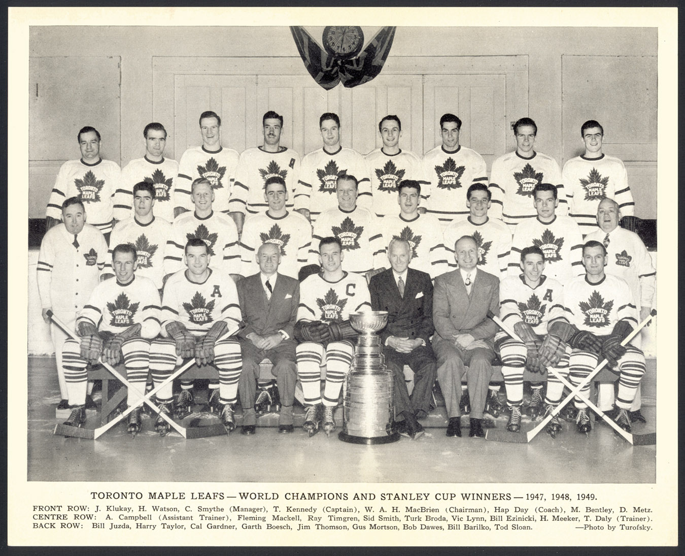 1948 49 Toronto Maple Leafs Quaker Oats Photo Phenomenal Condition Ebay