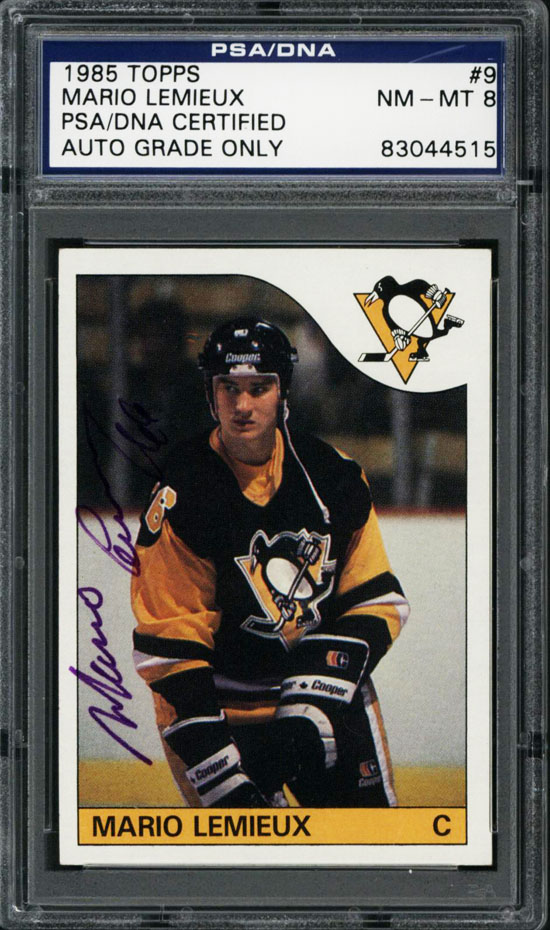 how to tell a mario lemieux original rookie from reprint